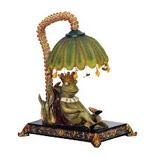100 King Of The Frogs Sterling 91740 Royal Sleeping Frog Mini Accent Lamp