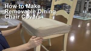 How To Make Removable Dining Chair Covers … | Sewing Rooms ...
