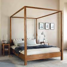 Canopy Bed Queen by Interior Design Wood Canopy Bed Frame Queen All King Fancy