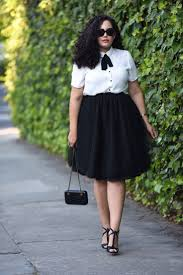 plus size bow blouse and tulle skirt tulle pinterest tulle