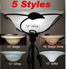Stiffel Lamp Shades Glass by Dish Glass Torchiere Lamp Shade Example