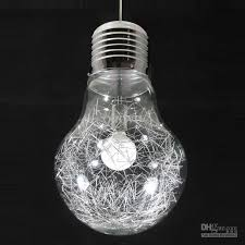 stylish big bulb dining room pendant l new modern aluminum wire