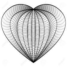 Coeur Damour Décoratif Vector Illustration Livre à Colorier Pour