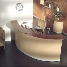 OfficeCurved Table Desk Furniture As Receptionist Idea Curved