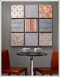 This Budget Decorating Idea Is From CraftsnCoffee DIY Wall Art Project Uses Scrapbook Paper The Mounted On A Sheet Of Styrofoam Brand