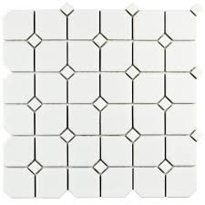 Home Depot Merola Hex Tile by Merola Tile Metro Broadway Matte White With White Dot 11 3 4 In X