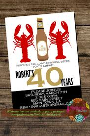 Pinterest Crawfish Boil Decorations by Crawfish Boil Birthday Party Invitation Crawfish Boil Etsy