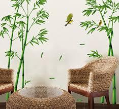 ufengke grüner bambus und der vogel wandsticker wohnzimmer schlafzimmer entfernbare fenstersticker wandtattoos wandbilder