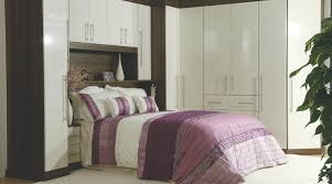 Bedroom BQ Ideas Contemporary Gloss White Walnut Modular Furniture