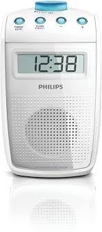 philips ae2330 tragbares duschradio ukw mw tuner lc display weiß