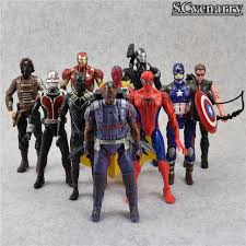 10Pcs Set Captain America Civil War Avengers Figures Iron Man Ant Hawkeye Spiderman
