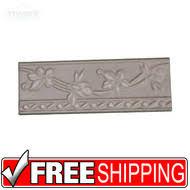 2 5x8 ceramic wall border tile 4 pcs listello usa lacio negro