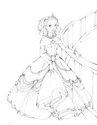 Enchanting Coloring Pages Barbie Print Pin Drawn Page 6 Pencil And In Color Kids