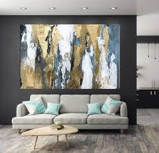 blaue abstrakte kunst gold kunst gold blatt wand kunst moderne abstrakte leinwand kunst malerei auf leinwand ein einer wohnzimmer dekor