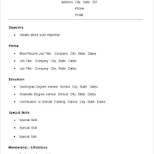 Basic Resume Formats Template Free Samples Examples Format Download In Simple Templates For