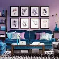 Teal Color Living Room Ideas by Purple Living Room Ideas With Blue Sofa Set Next Is Analogous