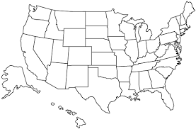 Map Of California Outline Geography Blog Printable United States With Regard To Empty
