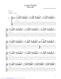 long nights guitar pro tab by eddie vedder musicnoteslib com