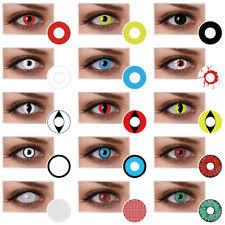 Prescription Contact Lenses Halloween Uk by Colored Contact Lenses Ebay