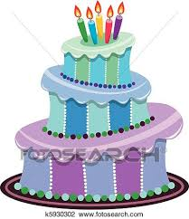 Clipart big birthday cake Fotosearch Search Clip Art Illustration Murals Drawings