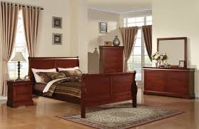louis phillipe iii sleigh bedroom set in cherry