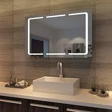 spiegelschrank bad holz led mit steckdose furnerama