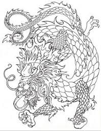 Chinese Dragon Line By Death Of A Salesman Fantasy Myth Mythical Mystical Colouring PagesAdult