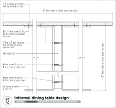 Dining Table Width Standard Kitchen Room Size Dimensions Chair