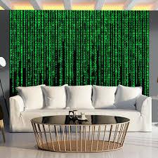vlies fototapete matrix grün blau wohnzimmer tapete