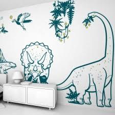 deco chambre dinosaure stickers enfant dinosaures monde jurassique pour déco chambre