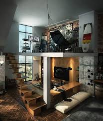 bureau loft industriel design interieur loft deco industriel bureau salon éscalier