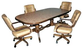 Kitchen Table Sets With Rolling Chairs Dinette Caster Dining Room