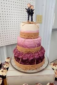 Burgundy Ombre Rustic Wedding Cake