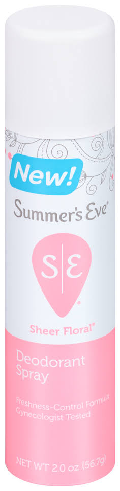 Summer's Eve Freshening Spray Deodorant - Sheer Floral, 2oz