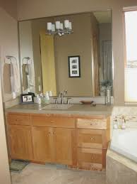 simple bathroom decoration using solid light oak wood bathroom