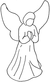 Angel Drawings For Christmas Ornaments