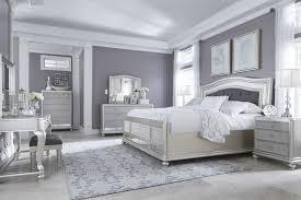 Coralayne 5 Pc Bedroom Dresser Mirror & Queen UPH Panel Bed
