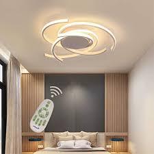 led wohnzimmerle deckenleuchte dimmbar esszimmer schlafzimmer len mit fernbedienung chic design metall acryl schirm