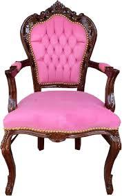 casa padrino barock esszimmerstuhl mit armlehnen rosa braun 53 x 57 x h 108 cm handgefertigter antik stil massivholz stuhl mit edlem samtstoff