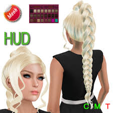 EDeLsToRe Woman Mesh Hair Gini Incl All 24 Color HUD Long Ponytail Zopf Pferdeschwanz
