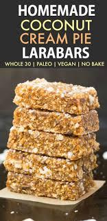 Homemade Coconut Cream Pie Larabars Whole30 Paleo Vegan Gluten Free These