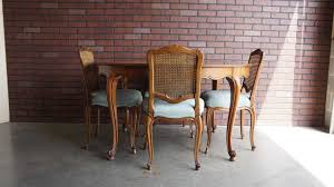 French Provincial Accent Chair by Chair Table With Set Cane Back Set French Provincial Dining