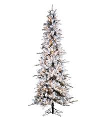 Slim Flocked Pencil Pine Artificial Christmas Trees Treetime With Regard To 9 Ft Tree