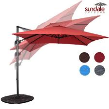 Square Patio Umbrella With Netting by Top 10 Best Offset Patio Umbrellas 2017 Buyer U0027s Guide December