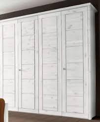 details zu massivholz kleiderschrank 4türig kiefer massiv weiß schlafzimmer schrank holz