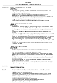 Download Video Production Manager Resume Sample As Image File