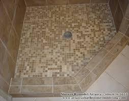 bright design bathroom shower floor tile ideas borders travertine