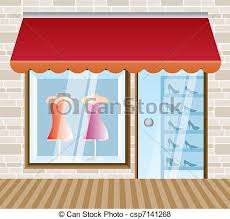 Clothing Boutique And Shop Vector