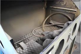 trinco model 36 dry blast cabinet s n 8249 4 w dust collector md