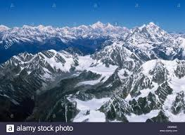 mountain ranges of himalayas aerial view of mount everest himalayan snow covered mountain
